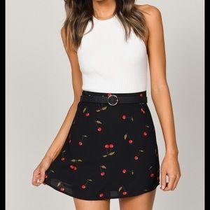 NWT Cherry Print Tank Mini Skirt Set